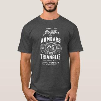 T-shirt Come apprennent Jiu Jitsu ! la pièce en t foncée