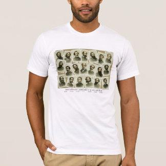 T-shirt Commandants confédérés de la guerre civile