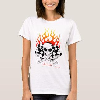 T-shirt Commande ! Crâne, os croisés, emballant des
