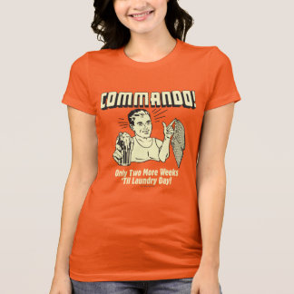 T-shirt Commando : 2 semaines labourent le jour de