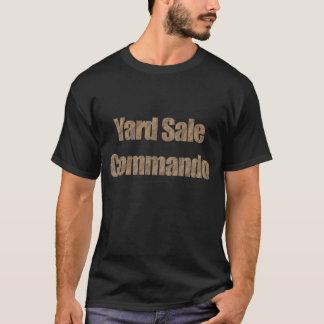 T-shirt Commando #3 (texte de vente de bric-à-brac de sac
