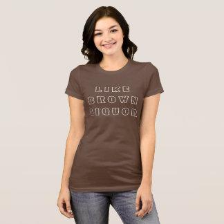 T-shirt Comme la boisson alcoolisée de Brown