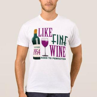 T-shirt COMME LE VIN fin âgé au cru 1954 de PERFECTION
