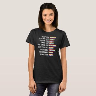 T-shirt Comme les activistes gais - combat comme Harvey et