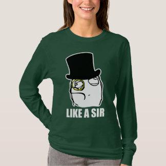 T-shirt Comme monsieur Monocle Rage Face Meme