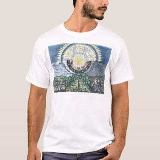 T-shirt Comme précédemment, ainsi au-dessous de la chemise