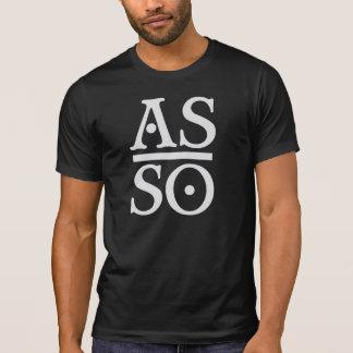 T-shirt Comme précédemment, ainsi au-dessous de la pièce