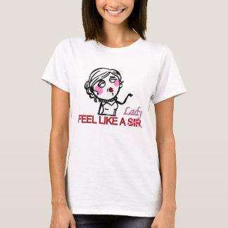 T-shirt Comme une chemise de monsieur (dame) Meme
