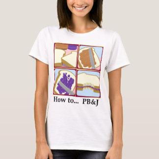 T-shirt Comment à… PB&J (blancs)