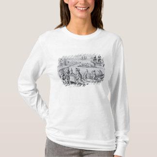 T-shirt Commerce anglais avec des Indiens de l'ouest