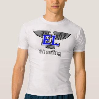 T-shirt Compression de lutte de lac est