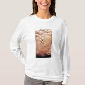 T-shirt Comprimé avec le manuscrit cunéiforme, c.1830-1530