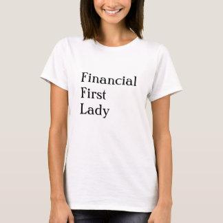 T-shirt Comptable féminin CFO ou nom drôle de FD Nick