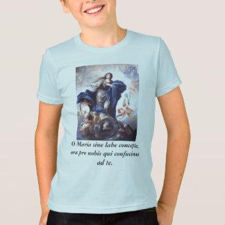 T-shirt Concepta de labe de sinus d'O Maria, pro nobis