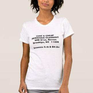 T-shirt CONCEPTEUR CHIC et BON MARCHÉ CLOSEOUT509