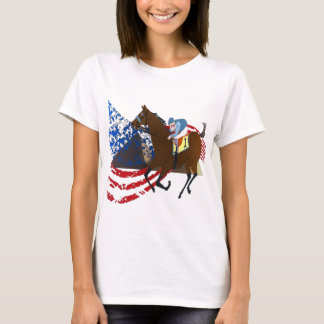 T-shirt conception américaine de course de chevaux de