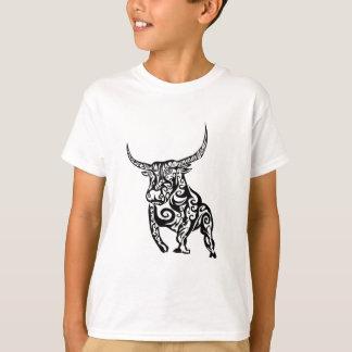 T-shirt conception animale d'art de taureau