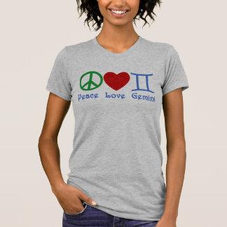 T-shirt Conception astrologique de Gémeaux d'amour de paix