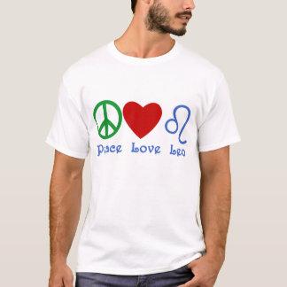 T-shirt Conception astrologique de Lion d'amour de paix