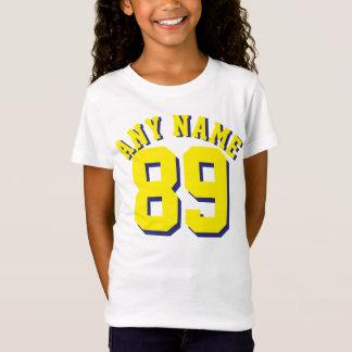 T-Shirt Conception blanche et jaune du Jersey de sports