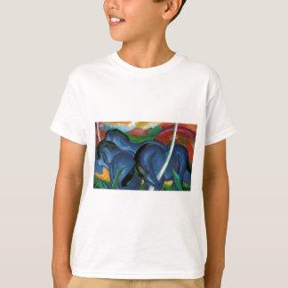 T-shirt conception bleue de chevaux de marc de Franz