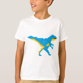 T-shirt Conception bleue de Dino de dinosaure