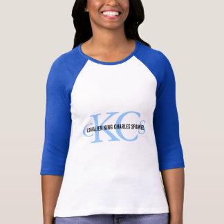 T-shirt Conception cavalière de monogramme d'épagneul du
