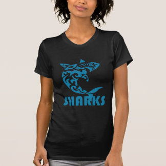 T-shirt Conception contemporaine de remous de requins