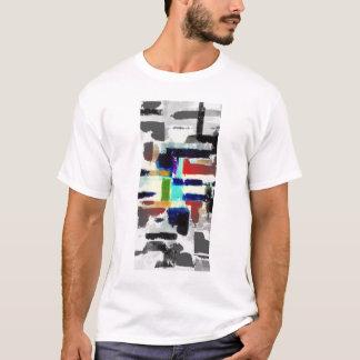 T-shirt Conception d'art abstrait de pièce en t d'été de