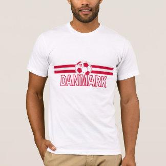 T-shirt Conception de ballon de football du Danemark