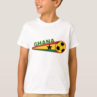 T-shirt Conception de ballon de football et de drapeau du