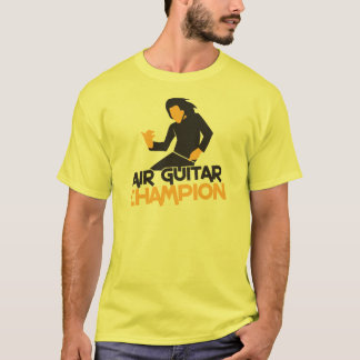 T-shirt Conception de champion d'Air guitar