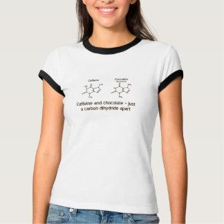 T-shirt Conception de chemise de caféine et de chocolat