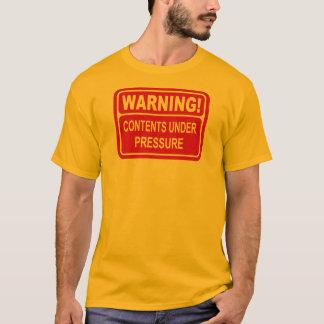 T-shirt Conception de contenu de panneau d'avertissement