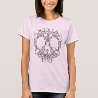 T-shirt Conception de crâne - pyramide des crânes
