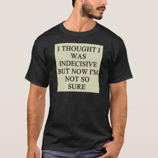 T-shirt conception de doute d'indécision