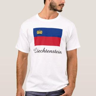 T-shirt Conception de drapeau de la Liechtenstein