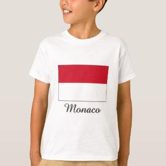 T-shirt Conception de drapeau du Monaco