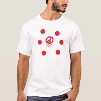 T-shirt Conception de langue kurde et de symbole de paix