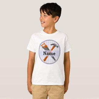 T-shirt Conception de marteau et de scie pour des garçons