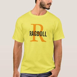 T-shirt Conception de monogramme de chat de Ragdoll