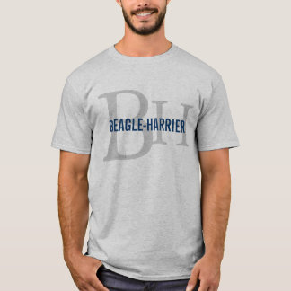 T-shirt Conception de monogramme de race de Beagle-Harrier