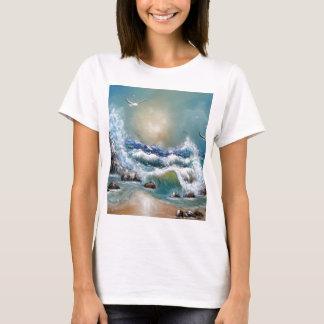 T-shirt Conception de plage de mouette