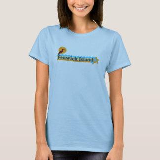 """T-shirt Conception de """"plage"""" d'île de Fenwick"""