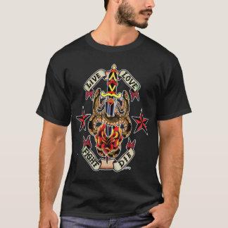 T-shirt Conception de poignard