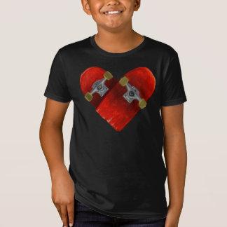 T-Shirt Conception de skateboarding de conseil cassée par
