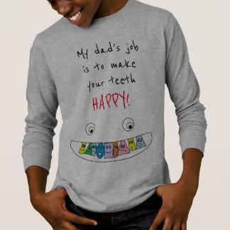 T-shirt Conception de sourire de visage de dents HEUREUSES