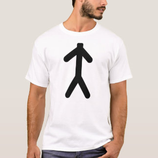 T-shirt conception de stickman