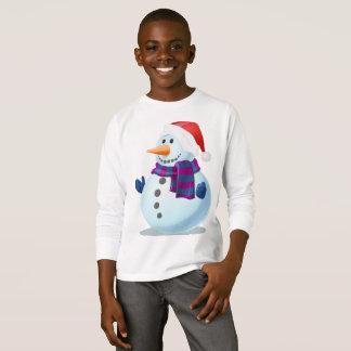 T-shirt Conception de Sweatshirt-Bonhomme de neige