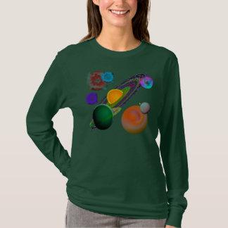 T-shirt Conception de système solaire